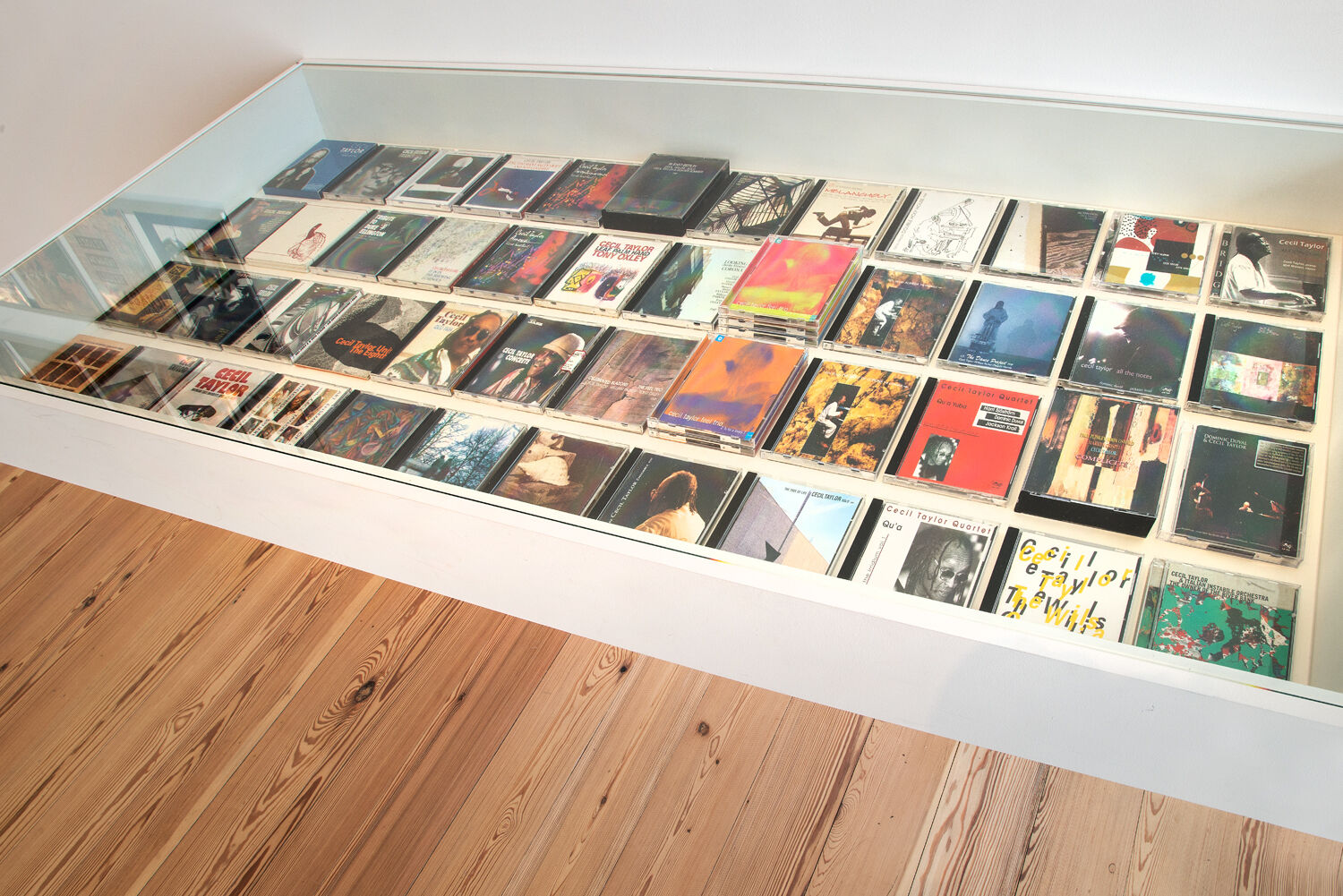 A table displaying CD albums.
