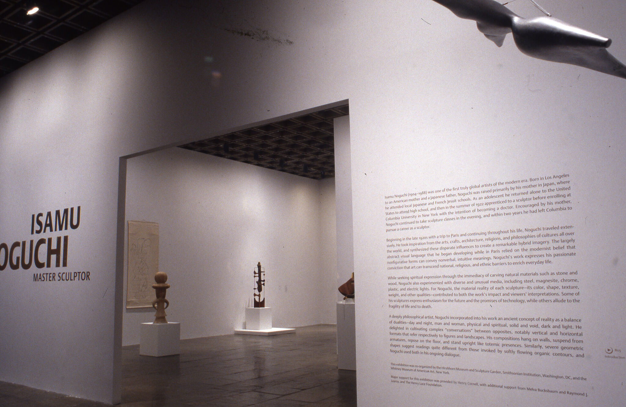 Wall text for the entrance of Isamu Noguchi: Master Sculptor.