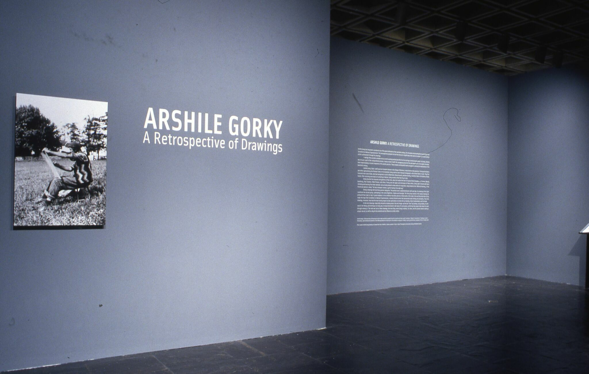 Wall text for the entrance of Arshille Gorky: A Retrospective of Drawings.