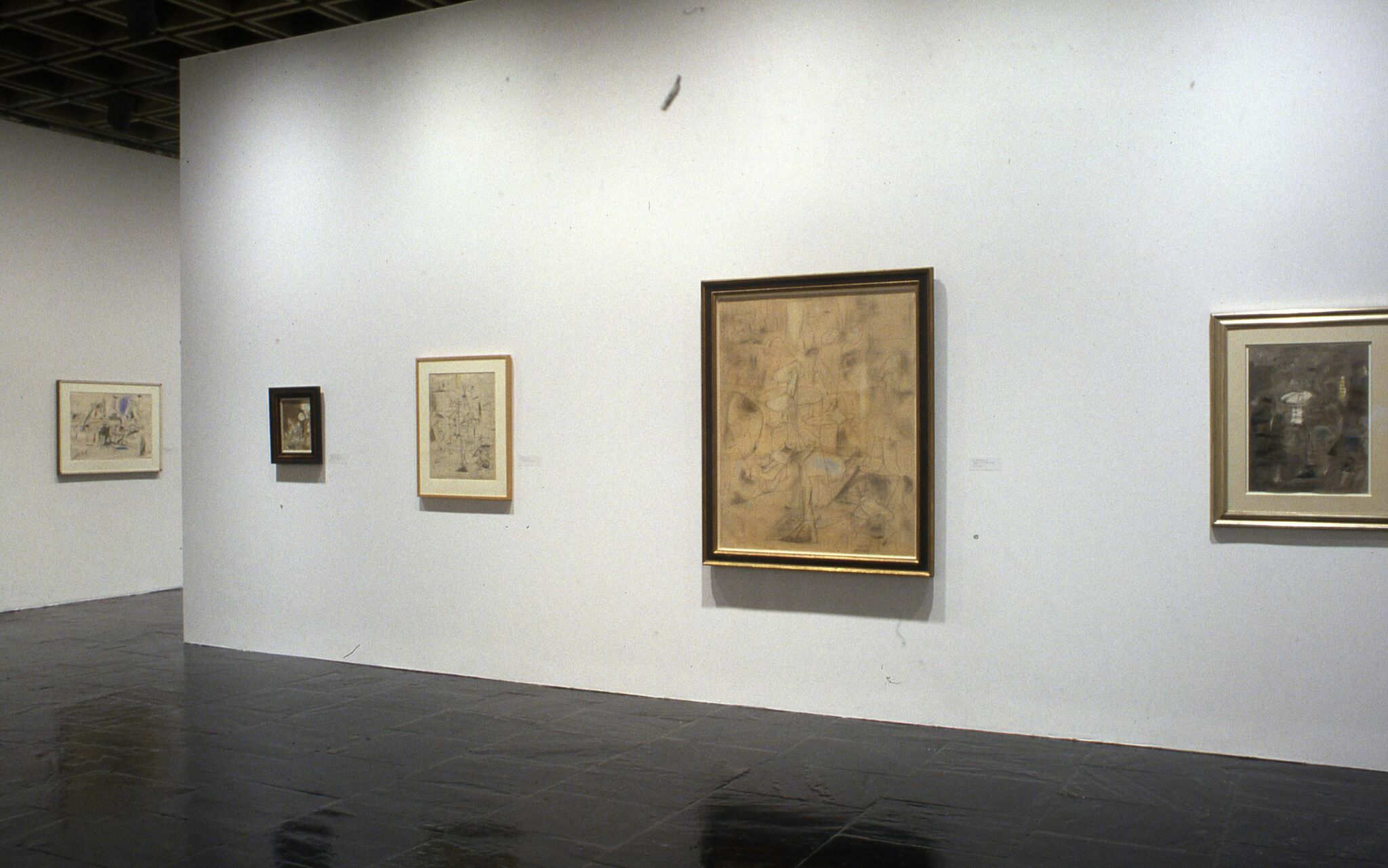 Works of art displayed in a gallery.