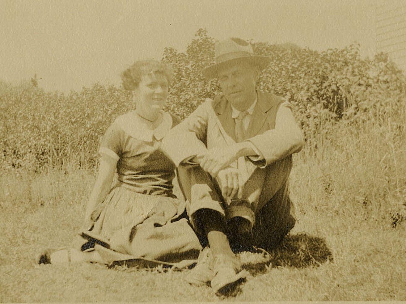 Portrait of Edward and Josephine Hopper at Two Lights, Cape Elizabeth, Maine.