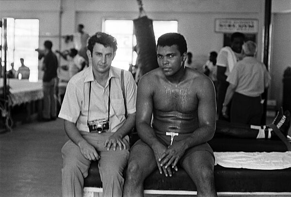 Mohammad Ali and photographer Danny Lyon.